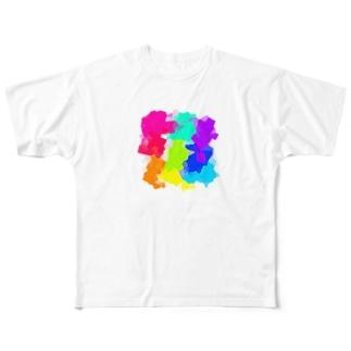 カラフル All-Over Print T-Shirt