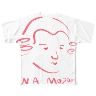 モーツァルト 赤 Mozart Full graphic T-shirts
