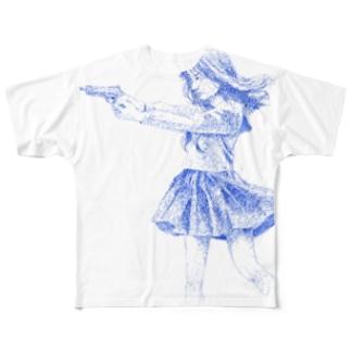 「早期限定」日向子 銃ver.Tシャツ Full graphic T-shirts