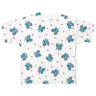 ねずマウスちらちら Full graphic T-shirts