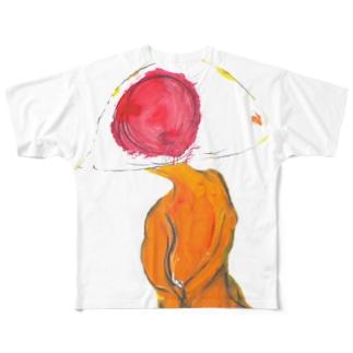 ひとつ目宇宙人フルグラフィックTシャツ Full graphic T-shirts