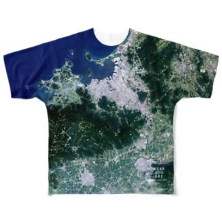 福岡県 筑紫郡 Tシャツ 両面 Full graphic T-shirts