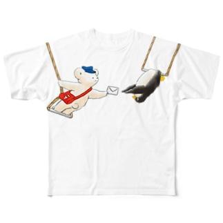 マールとショーイ 空中ブランコ Full graphic T-shirts