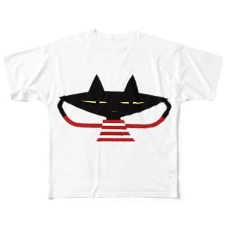 クミン黒ねこ  Full graphic T-shirts