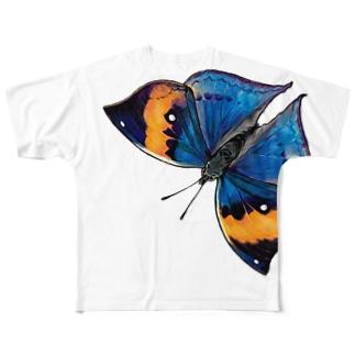 コノハチョウをまとう*Tシャツ Full graphic T-shirts