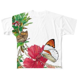 ツマベニチョウをまとうTシャツ Full graphic T-shirts