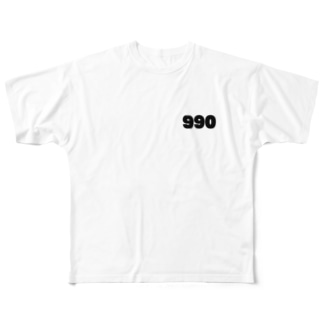 トーイッカー990両面Tシャツ Full graphic T-shirts