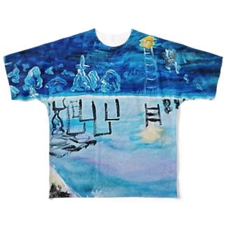 眠り バージョン2 Full graphic T-shirts