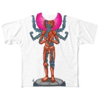 メカニック阿修羅 Full graphic T-shirts