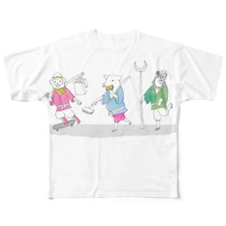 西遊記 休日ショッピング Full graphic T-shirts