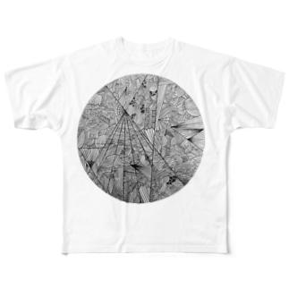 なこの幾何学模様 Full graphic T-shirts