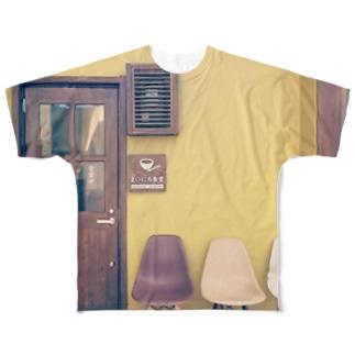 まいにち食堂の正面 Full graphic T-shirts