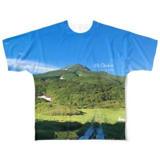 鳥海山 Full graphic T-shirts