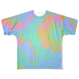 サーモフラワー Full graphic T-shirts