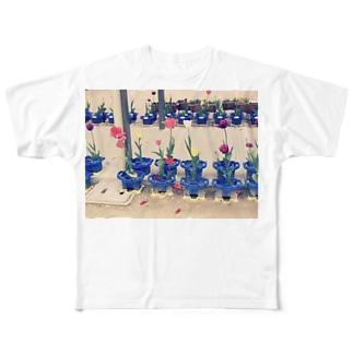 kuikoの咲いた・さいた Full graphic T-shirts
