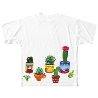 mi. (エムアイドット)の植物いろいろ Full graphic T-shirts