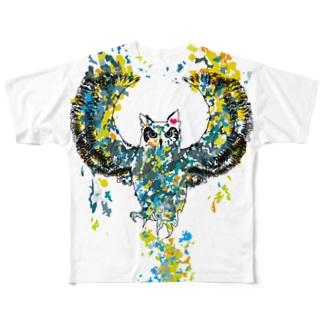 メイサイフクロウ Full graphic T-shirts
