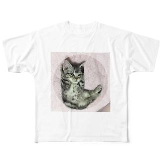 猫のロズ君_ねこネコcatのRoz-kun猫 ねこネコcat Full graphic T-shirts