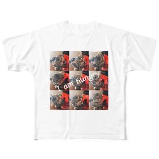 猫のロズ君 Full graphic T-shirts