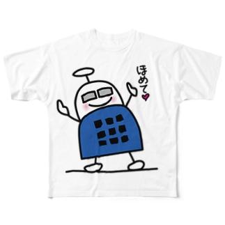 ブロックロボット・うーたーまん Full graphic T-shirts