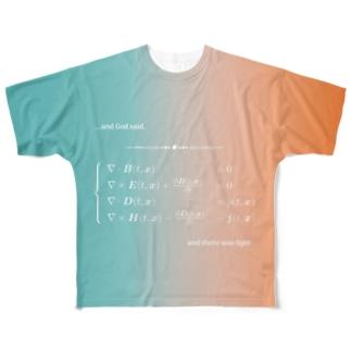 Maxwell eq. Full graphic T-shirts