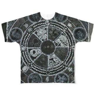 ムシズミ魔法円 Full graphic T-shirts
