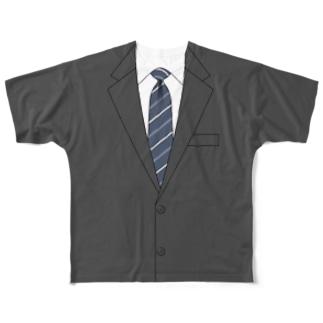 スーツTシャツ 〜リモート会議〜 Full graphic T-shirts