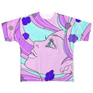 あじさい(6月の誕生花) Full graphic T-shirts
