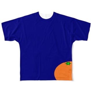 みかん Full graphic T-shirts