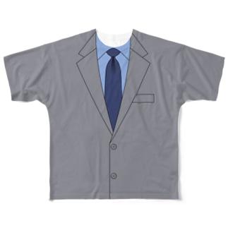 スーツTシャツ ~リモート会議~ Full graphic T-shirts