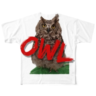 梟-OWL- Full graphic T-shirts