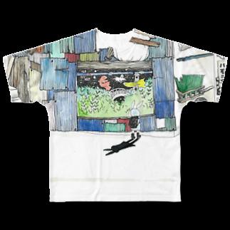小野寺製作所二号店の下校時刻 Full graphic T-shirts