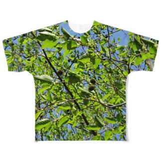 新緑にまぎれるTシャツ Full graphic T-shirts