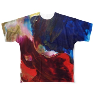 Red and Blue Full graphic T-shirts