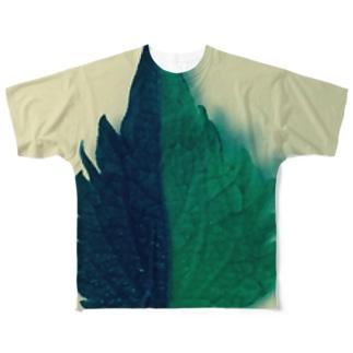 半分な紫蘇2 Full graphic T-shirts