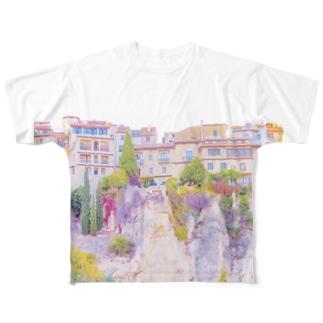 城塞都市 崖の街 Full graphic T-shirts