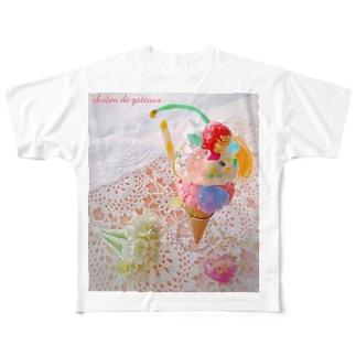 Bear Gummy Parfeit(candy beige ver.) Full graphic T-shirts