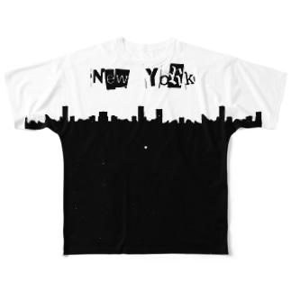 New York & 51 star Full graphic T-shirts