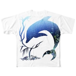 海中 Full graphic T-shirts