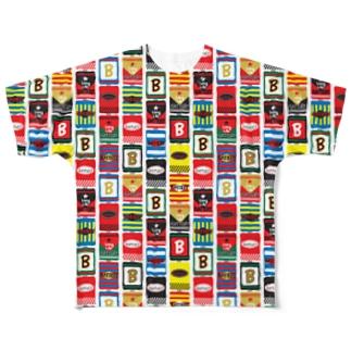 カラフル乾電池 Full graphic T-shirts