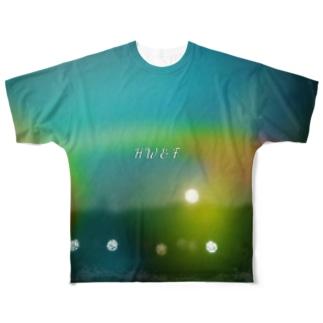 HW&Fと夜景写真のLIGHT LEAKS加工 Full graphic T-shirts