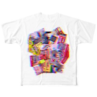 自販機コラージュ Full graphic T-shirts