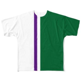 芝でテニスがしたくなるTシャツ Full graphic T-shirts