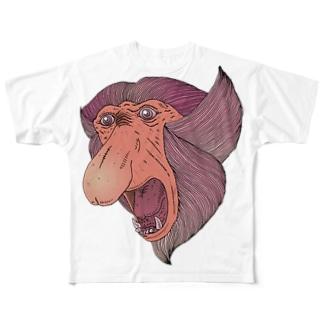FIELD EDGE.のテングザル Full graphic T-shirts