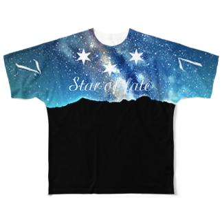 運命の星 7/7 Full graphic T-shirts