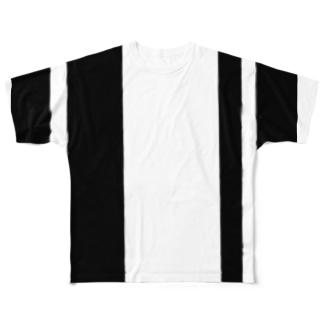 縦ライン Full graphic T-shirts