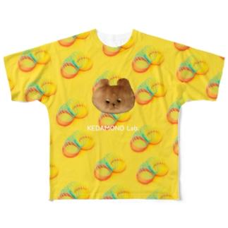たくまくんサマーイエロー Full graphic T-shirts