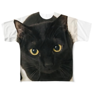 黒猫の零衣ちゃん Full graphic T-shirts