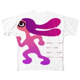 ヒト移動速度アップ Full graphic T-shirts