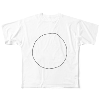 MARU-黒 Full graphic T-shirts
